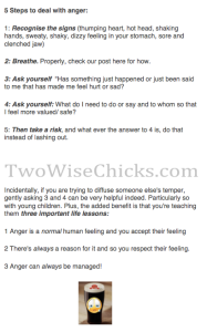 Anger tip sheet